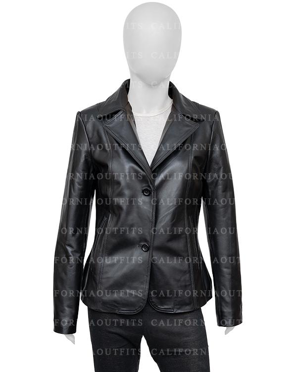Black-Leather Blazer-Jacket