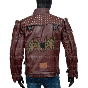 Guardians of the Galaxy Star Lord Video Game Leather Jacket With Patch