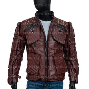 Marvel's Guardians of the Galaxy Star Lord Video Game Leather Jacket