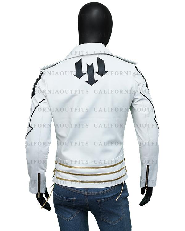 Mens Slim Fit White Jacket