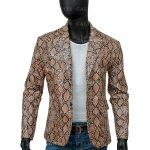 Mens Snake Print Jacket