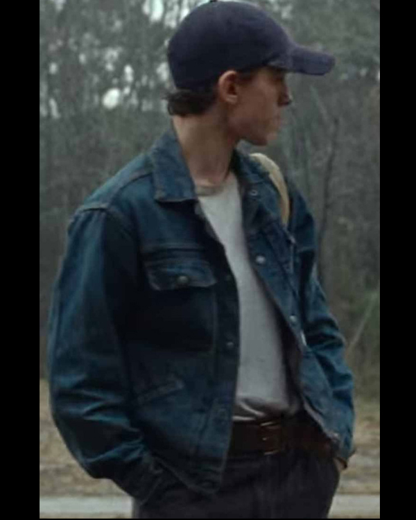 arvin russell the devil all the time tom holland denim jacket