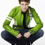 ben 10 alien swarm green biker leather jacket