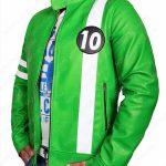 ben 10 green biker leather jacket