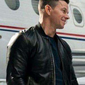 mark wahlberg infinite evan michaels leather jacket