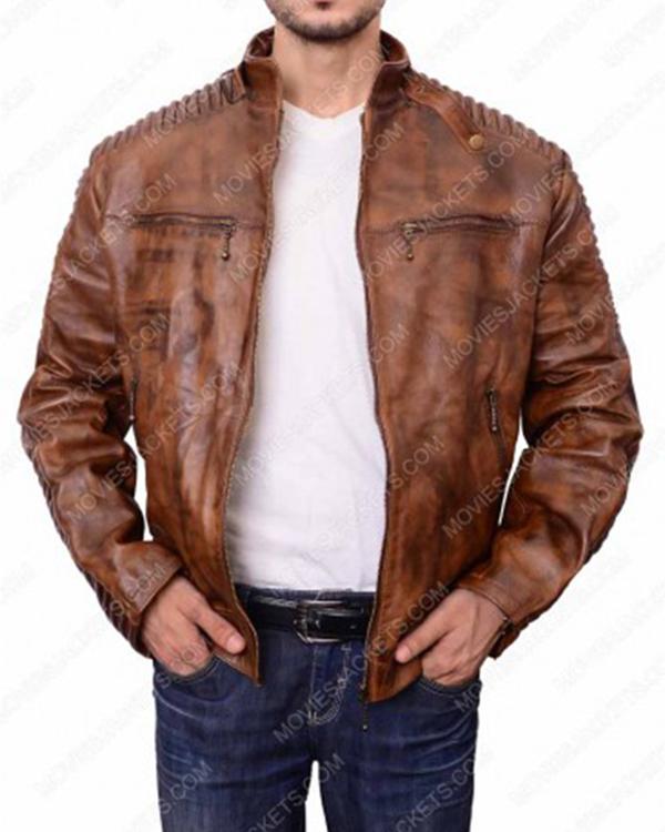 men cafe racer brown jacket