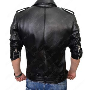 the walking dead negan black motorcycle leather jacket
