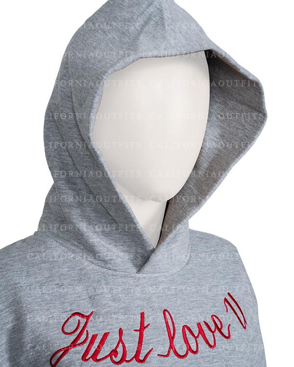 just love u grey hoodie