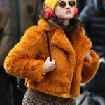 mabel only murders in the building selena gomezas orange fur jacket