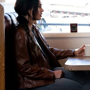 midnight in the switchgrass megan fox brown leather jacket