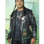 adam beach the suicide squad slipknot black leather jacket
