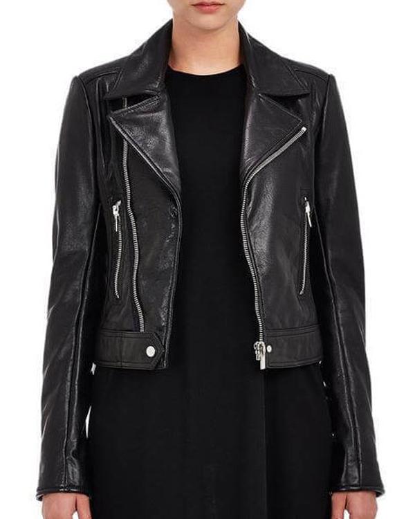 american horror stories 2021 ruby kaia gerber black leather jacket