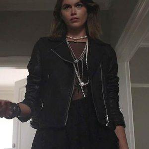 american horror stories ruby kaia gerber black leather jacket