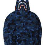 bape camo shark blue hoodie