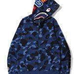 bape camo shark hoodie