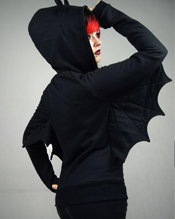 batman black hoodie with wings