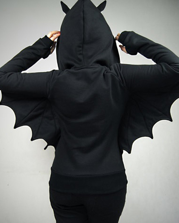 batman black wings hoodie