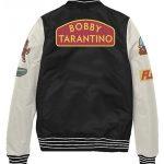 bobby tarantino black & white varsity jacket