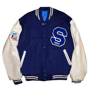 michael jackson sonic the hedgehog blue wool-blend jacket