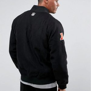 oakland raiders black men's bomber jacket