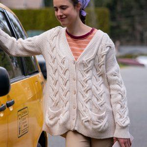 alex tv-series maid 2021 margaret qualley white woolen sweater