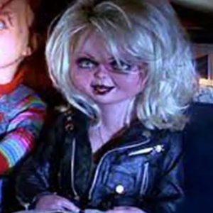 chucky's bride tiffany valentine black moto leather jacket