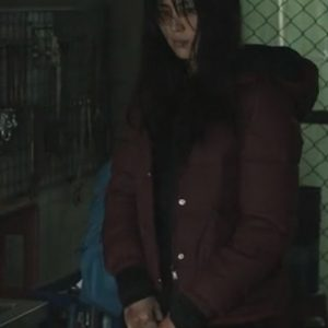ji-u yun my name so-hee han red hooded puffer jacket