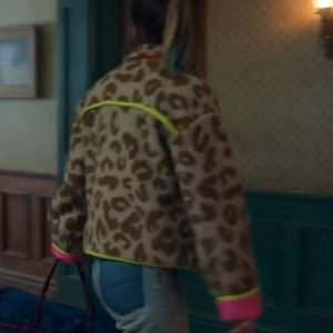 tv-series locke & key s02 kinsey locke leopard print felt jacket