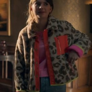 tv-series locke & key s02 kinsey locke leopard print jacket